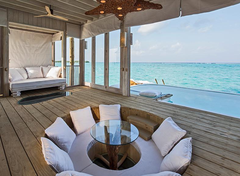 1 Bedroom Overwater Villa_Living Area by Richard Waite