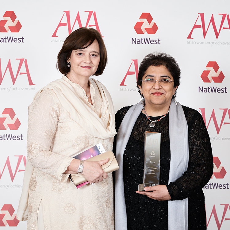 Cherie Blair and Sadaf Farooqi